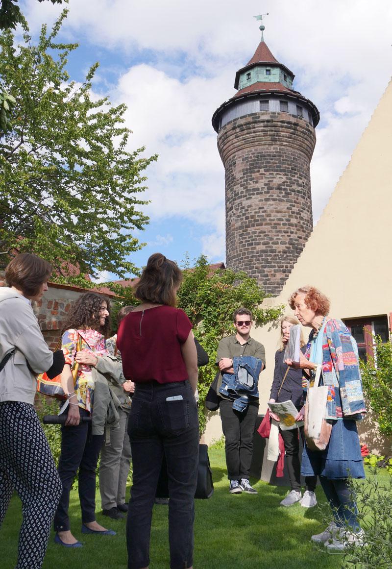 Im Meriangarten der Burg, Nürnberg